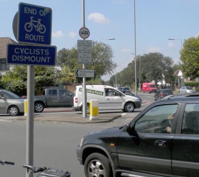 Cyclists Dismount - but then what?